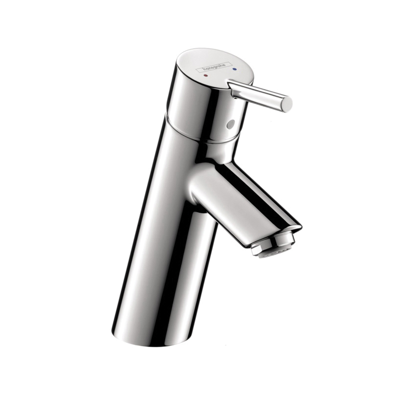 Hansgrohe 32040001 Talis S Bathroom Faucet, 1.2 gpm, 3 in H Spout, 1 Handle, Pop-Up Drain, 1 Faucet Hole, Chrome Plated, Commercial