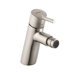 Hansgrohe 32240821 Talis S Bidet Faucet, 1.5 gpm, 3-5/8 in H Spout, 1 Handle, Pop-Up Drain, Brushed Nickel, Import