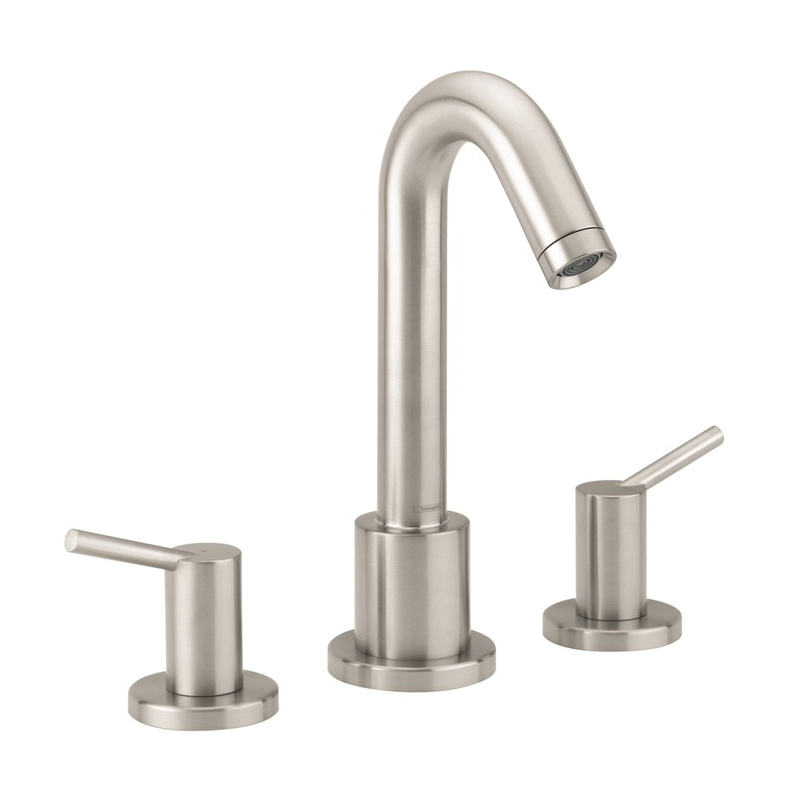 Hansgrohe 32313821 Talis S Roman Tub Set Trim, 5.8 gpm, 8-5/8 in Center, Brushed Nickel, 2 Handles, Hand Shower Yes/No: No