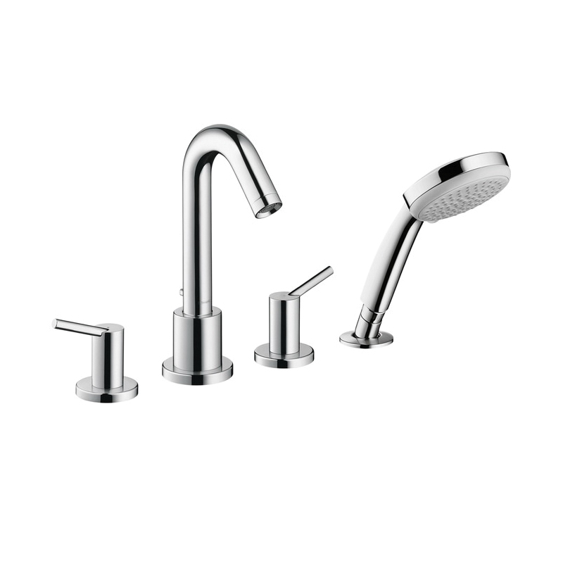 Hansgrohe 32314001 Talis S Roman Tub Set Trim, 5 gpm, Chrome Plated, 2 Handles, Hand Shower Yes/No: Yes