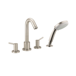 Hansgrohe 32314821 Talis S Roman Tub Set Trim, 5 gpm, Brushed Nickel, 2 Handles, Hand Shower Yes/No: Yes