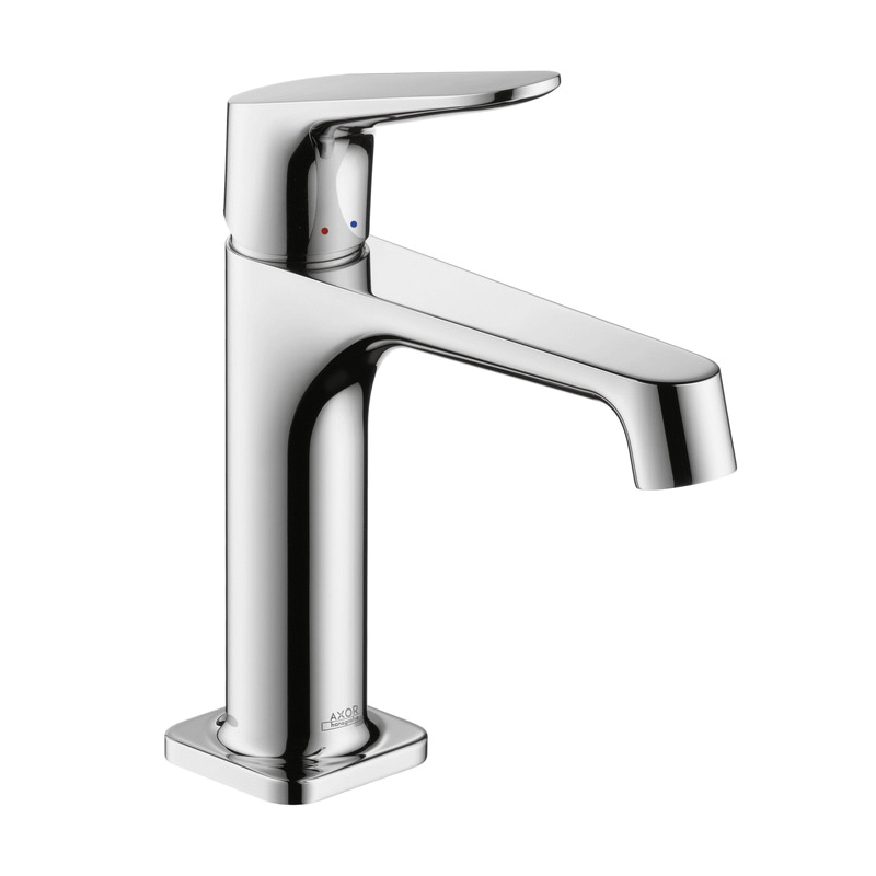 Hansgrohe 34010001 Axor Citterio M Bathroom Faucet, 1.2 gpm, 4 in H Spout, 1 Handle, Pop-Up Drain, 1 Faucet Hole, Chrome Plated, Commercial