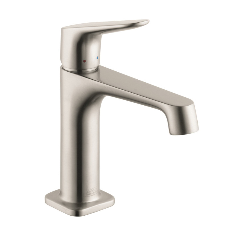 Hansgrohe 34010821 Axor Citterio M Bathroom Faucet, 1.2 gpm, 4 in H Spout, 1 Handle, Pop-Up Drain, 1 Faucet Hole, Brushed Nickel, Commercial