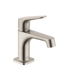 Hansgrohe 34016821 Axor Citterio M Small Bathroom Faucet, 1.2 gpm, 2-3/4 in H Spout, 1 Handle, Pop-Up Drain, 1 Faucet Hole, Brushed Nickel, Import, Commercial