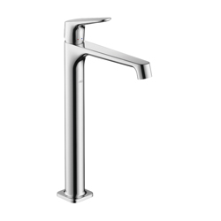 Hansgrohe 34120001 Axor Citterio M Tall Bathroom Faucet, 1.2 gpm, 9-7/8 in H Spout, 1 Handle, Pop-Up Drain, 1 Faucet Hole, Chrome Plated, Commercial