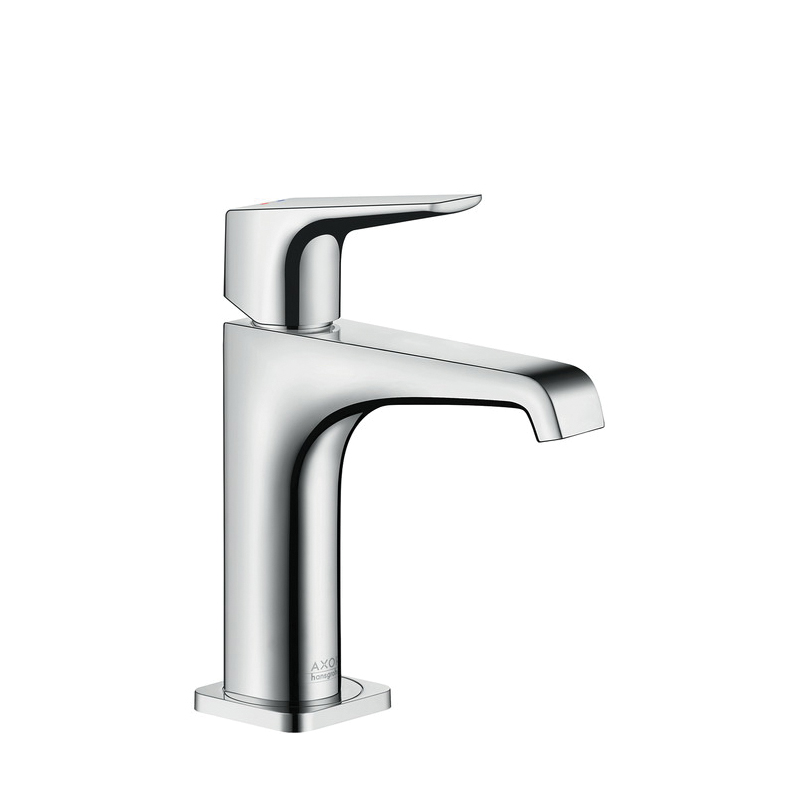 Hansgrohe 36111001 Axor Citterio E 150 Bathroom Faucet, 1.2 gpm, 5 in H Spout, 1 Handle, 1 Faucet Hole, Chrome Plated, Import
