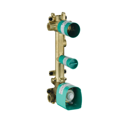 Hansgrohe 36701181 Axor Citterio E 2-Function Thermostatic Rough Module, G 3/4 NPT Inlet x G 3/4 NPT Outlet, Brass Body, Import