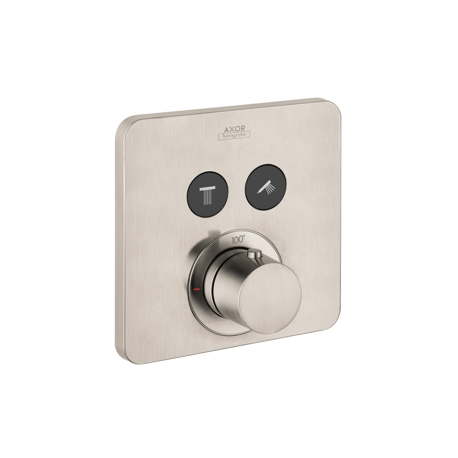 Hansgrohe 36707821 Axor ShowerSelect SoftCube Thermostatic Trim, Hand Shower Yes/No: No, Brushed Nickel