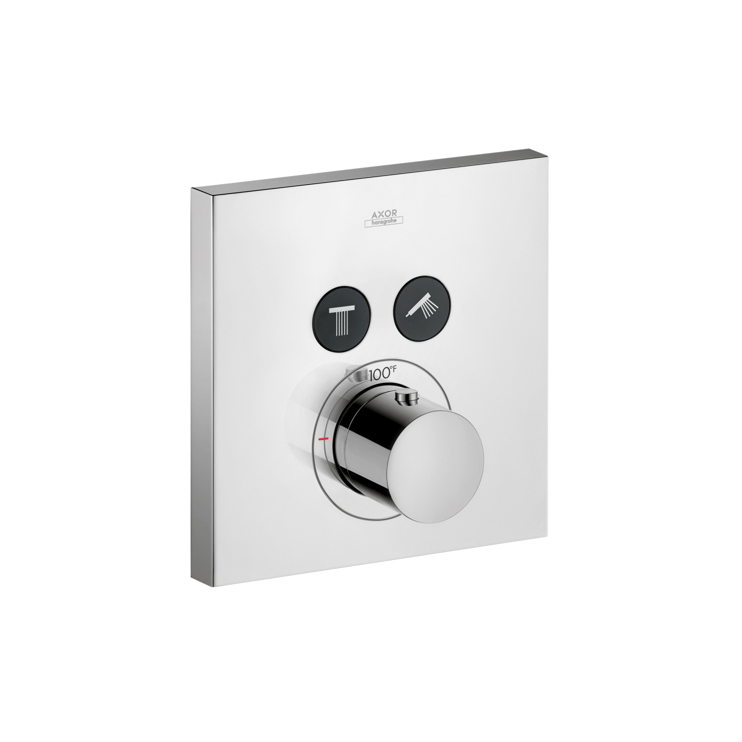 Hansgrohe 36715001 Axor ShowerSelect Square Thermostatic Trim, Hand Shower Yes/No: No, Chrome Plated