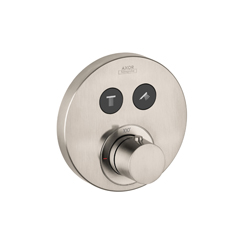 Hansgrohe 36723821 Axor ShowerSelect Round Thermostatic Trim, Hand Shower Yes/No: No, Brushed Nickel