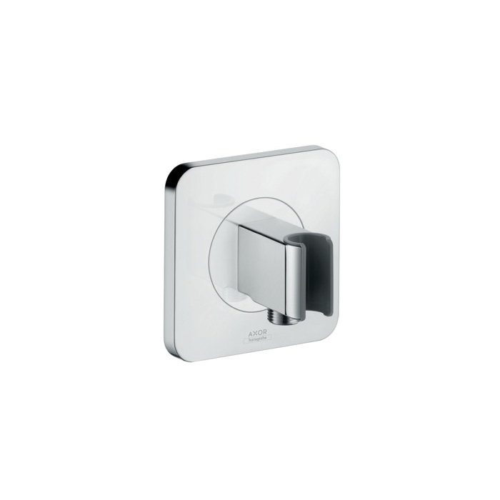 Hansgrohe 36724001 Axor Citterio E E-Hand Shower Porter With Outlet, Wall Mount, Brass, Import