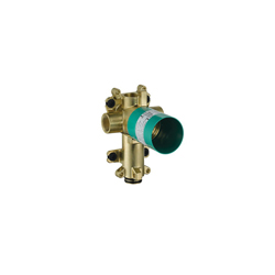Hansgrohe 36770181 Axor Citterio E Rough-In With Shut-Off, 1/2 in NPT Inlet x 1/2 in NPT Outlet, 10.5 gpm, Brass/Plastic Body, Import