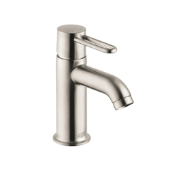 Hansgrohe 38020821 Axor Uno Bathroom Faucet, 1.2 gpm, 3-3/8 in H Spout, 1 Handle, Pop-Up Drain, 1 Faucet Hole, Brushed Nickel, Commercial