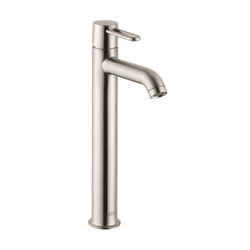 Hansgrohe 38025821 Axor Uno Tall Bathroom Faucet, 1.2 gpm, 9-7/8 in H Spout, 1 Handle, Pop-Up Drain, 1 Faucet Hole, Brushed Nickel, Commercial