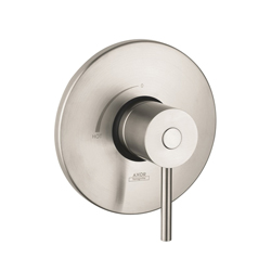Hansgrohe 38418821 Axor Uno Pressure Balance Trim, 6.5 gpm Shower, Brushed Nickel