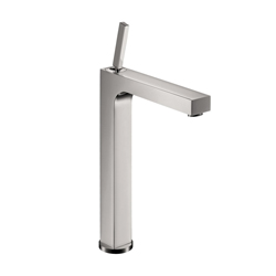 Hansgrohe 39020001 Axor Citterio Tall Bathroom Faucet, 1.2 gpm, 10-3/4 in H Spout, 1 Handle, Pop-Up Drain, 1 Faucet Hole, Chrome Plated, Commercial