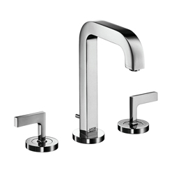 Hansgrohe 39135001 Axor Citterio M Widespread Bathroom Faucet, 1.2 gpm, 6-9/16 in H Spout, 8 in Center, Chrome Plated, 2 Handles, Pop-Up Drain, Commercial
