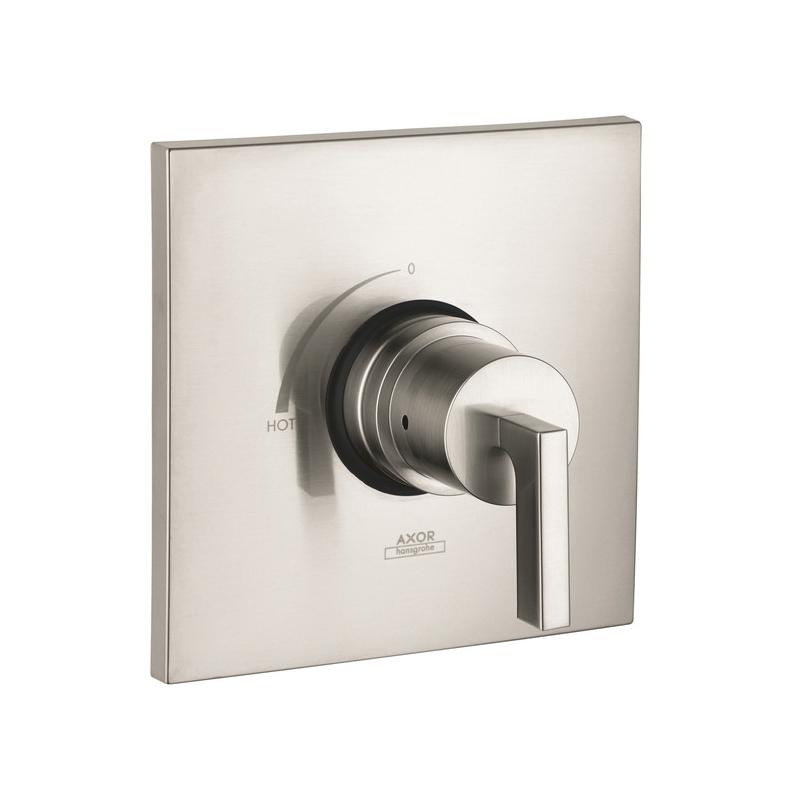 Hansgrohe 39414821 Axor Citterio Pressure Balance Trim, 5.5 gpm Shower, Brushed Nickel