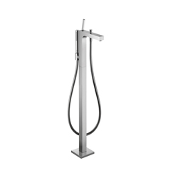 Hansgrohe 39451001 Axor Citterio Free Standing Tub Filler Trim, 5.5 gpm, Chrome Plated, 1 Handles, Hand Shower Yes/No: Yes