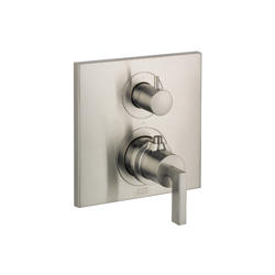 Hansgrohe 39720821 Axor Citterio Thermostatic Trim, Hand Shower Yes/No: No, Brushed Nickel