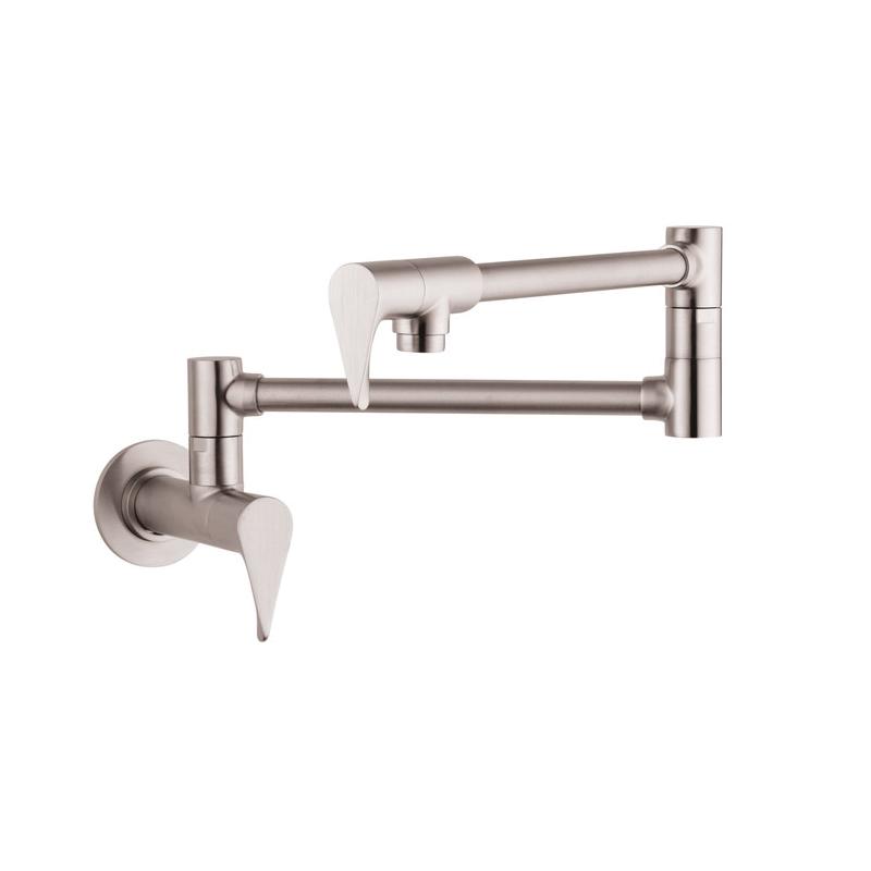 Hansgrohe 39834801 Axor Citterio Pot Filler, 2.5 gpm, Steel Optik, 2 Handles, Residential