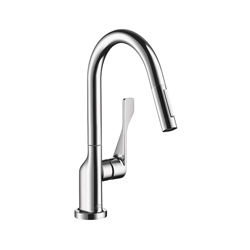Hansgrohe 39836001 Axor Citterio Pull-Down Prep Kitchen Faucet, 1.5 gpm, Chrome Plated, 1 Handles, Residential