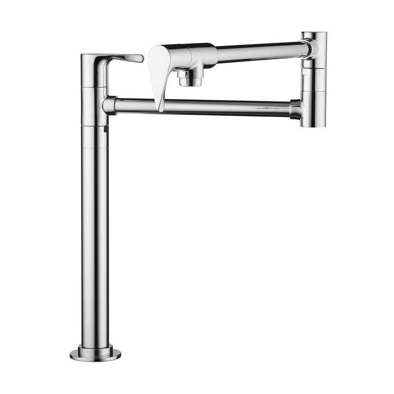 Hansgrohe 39838001 Axor Citterio Pot Filler Stand, 2.5 gpm, Chrome Plated, 2 Handles, Residential
