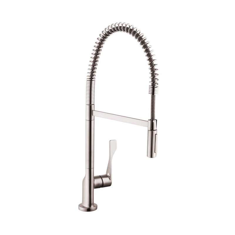 Hansgrohe 39840801 Axor Citterio Semi-Pro Kitchen Faucet, 1.75 gpm, 1 Faucet Hole, Steel Optic, 1 Handle, Residential