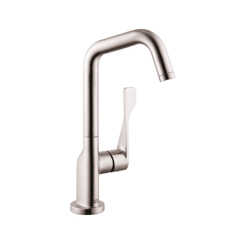 Hansgrohe 39851801 Axor Citterio Bar Faucet, 1.5 gpm, Steel Optik, 1 Handles, Residential