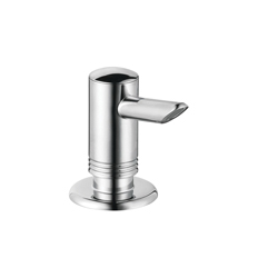 Hansgrohe 40418000 Axor Kitchen Soap/Lotion Dispenser, 12 oz, Deck Mount, Plastic, Chrome Plated