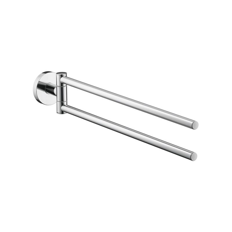 Hansgrohe 40512000 Logis S/E Wall Mount Dual Towel Bar, 2 in OAD x 2-5/8 in OAH, Brass