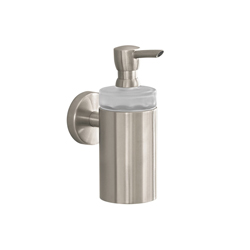 Hansgrohe 40514820 Logis S/E Soap Dispenser, 8 oz, Wall Mount, Brass/Plastic, Brushed Nickel