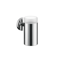 Hansgrohe 40518000 Logis S/E Tooth Brush Holder, 5 in H, Brass/Glass, Chrome Plated