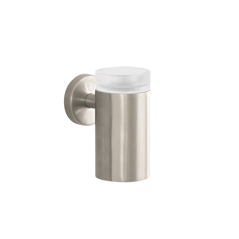 Hansgrohe 40518820 Logis S/E Tooth Brush Holder, 5 in H, Brass/Glass, Brushed Nickel