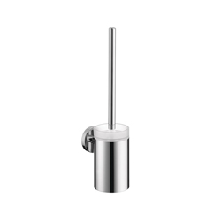 Hansgrohe 40522000 Logis S/E Toilet Brush With Holder, 15-1/4 in H, Brass/Crystal Glass, Chrome Plated
