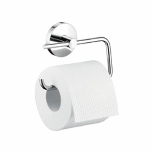 Hansgrohe 40526000 S/E Toilet Paper Holder, 2-7/8 in H, Brass, Chrome Plated, Domestic