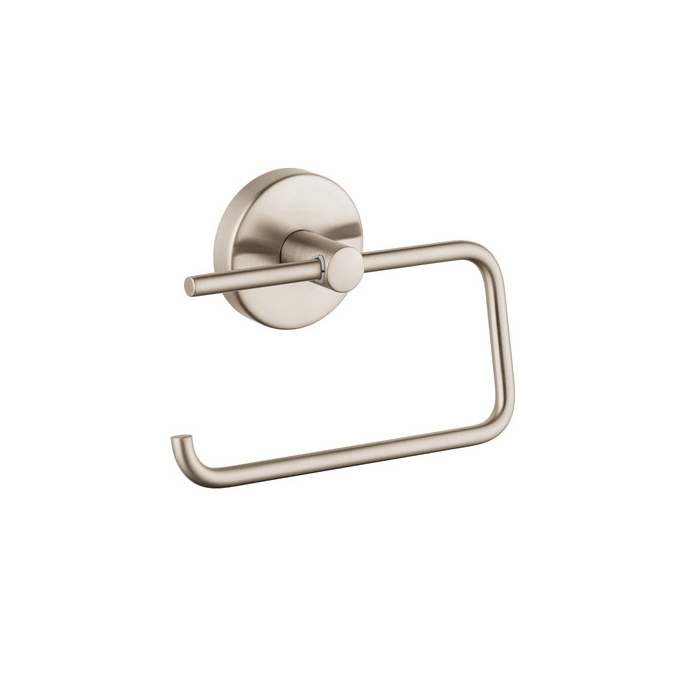 Hansgrohe 40526820 Logis S/E Toilet Paper Holder, Brass, Brushed Nickel