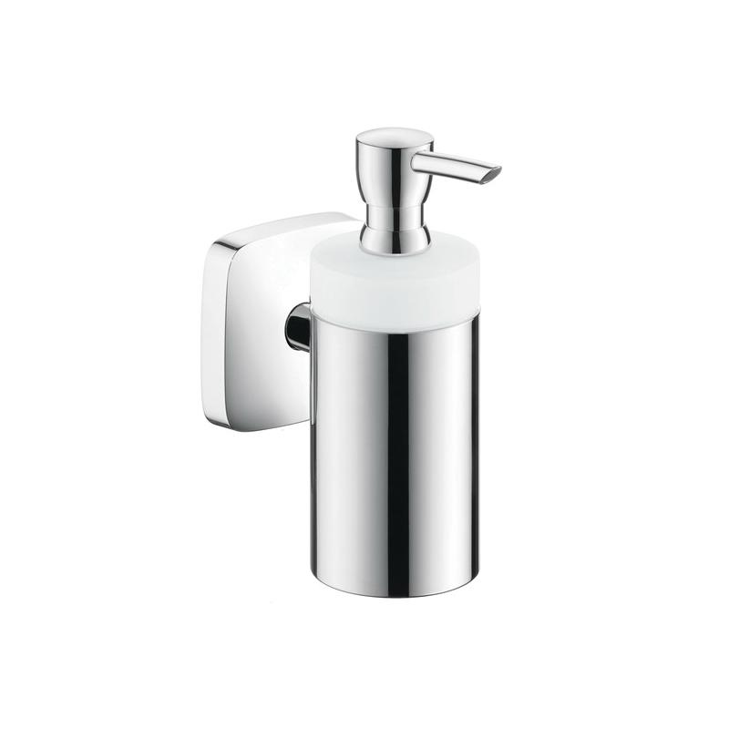 Hansgrohe 41503000 PuraVida Lotion Dispenser, 8 oz, Wall Mount, Brass, Chrome Plated