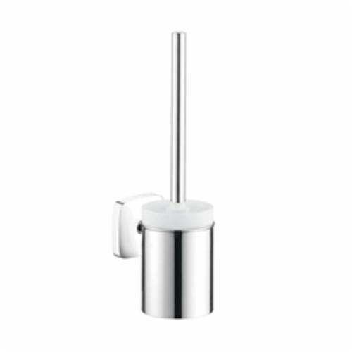 Hansgrohe 41505000 Toilet Brush With Holder, Brass/Ceramic, Chrome Plated