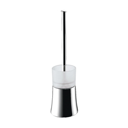 Hansgrohe 41536000 Axor Citterio Freestanding Toilet Brush With Holder, 14-3/8 in H, Solid Brass, Chrome Plated