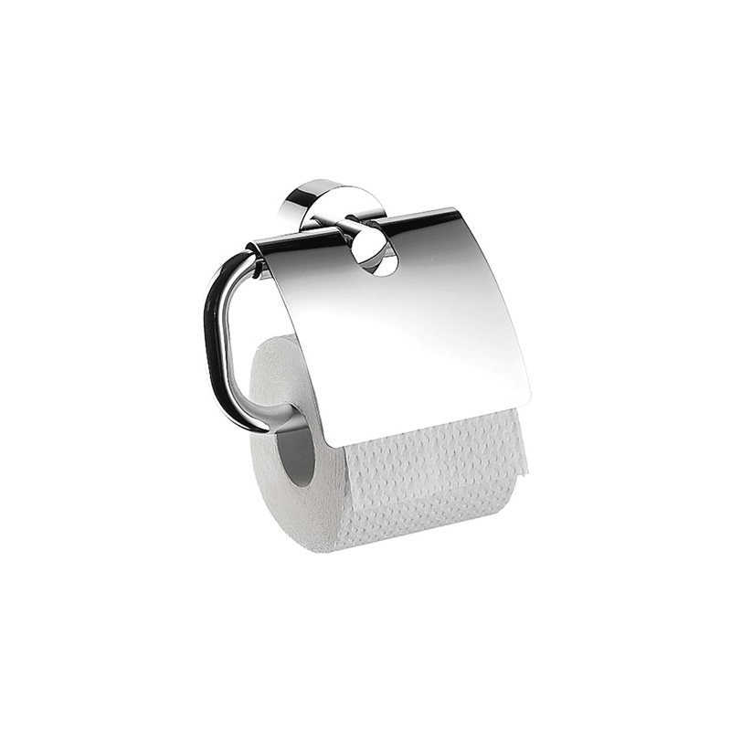 Hansgrohe 41538000 Axor Uno Toilet Paper Holder, Solid Brass, Chrome Plated