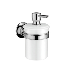 Hansgrohe 42019000 Axor Montreux Soap Dispenser, 8 oz, Wall Mount, Porcelain, Chrome Plated