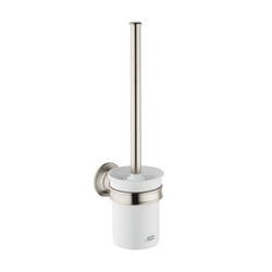 Hansgrohe 42035820 Axor Montreux Toilet Brush With Holder, 13-5/8 in H, Solid Brass, Brushed Nickel