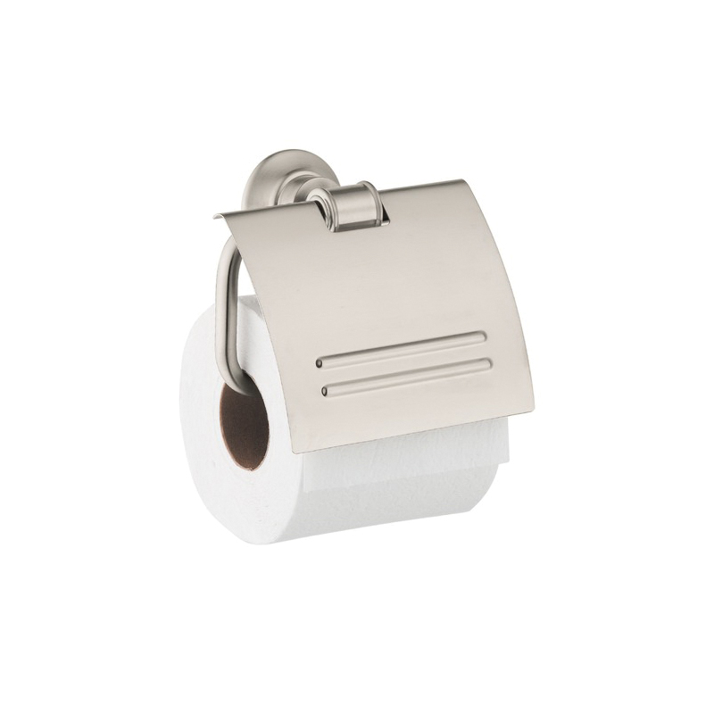 Hansgrohe 42036820 Axor Montreux Toilet Paper Holder, Solid Brass, Brushed Nickel