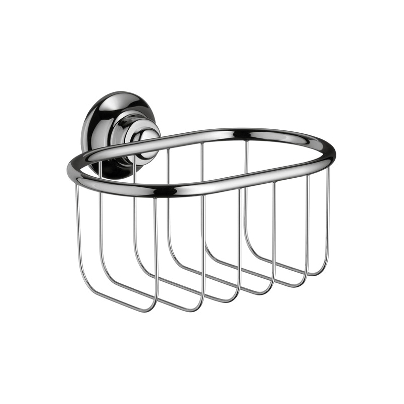 Hansgrohe 42065000 Axor Montreux Soap Dish, 6-5/8 in W x 5-3/8 in D x 3-1/8 in H, Metal, Chrome Plated