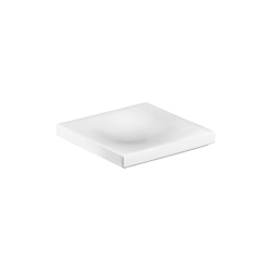 Hansgrohe 42233000 Axor Massaud Freestanding Soap Dish, 4-3/4 in W x 4-3/4 in D x 3/4 in H, Porcelain, Chrome Plated