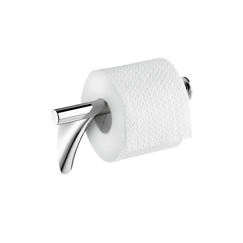 Hansgrohe 42236000 Axor Massaud Toilet Paper Holder, 4-7/8 in H, Solid Brass, Chrome Plated