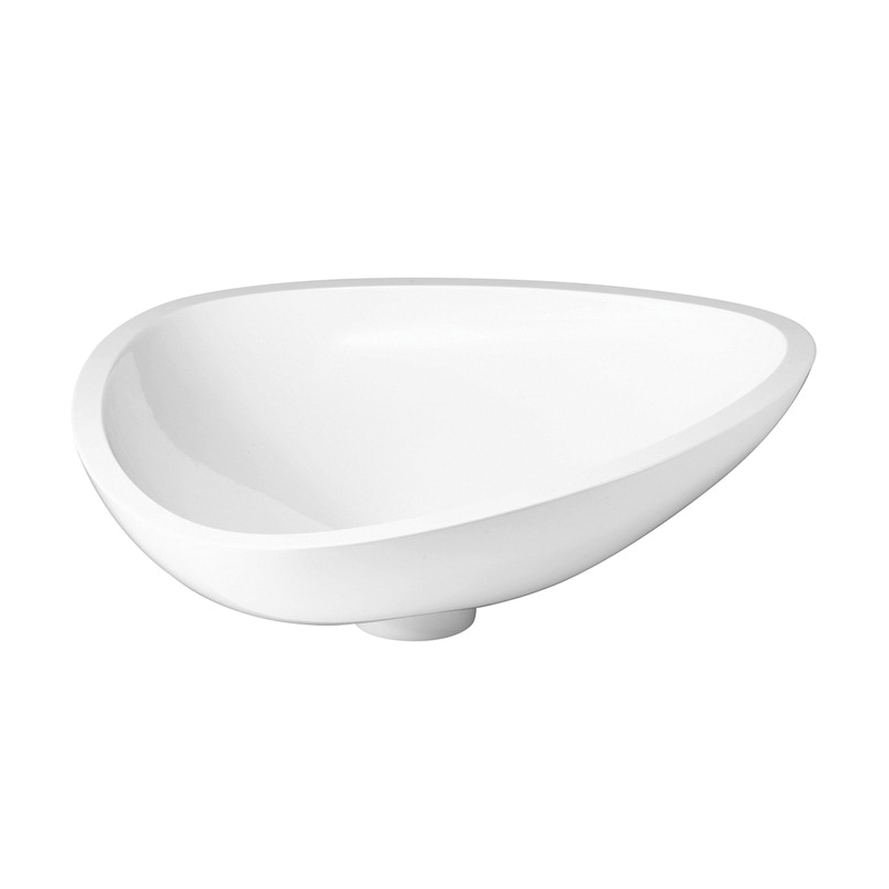 Hansgrohe 42305000 Axor Massaud Small Vessel Bathroom Sink, Oval, 22-1/2 in W x 17-3/4 in D x 6-5/8 in H, Cast Marble, Chrome Plated, Import