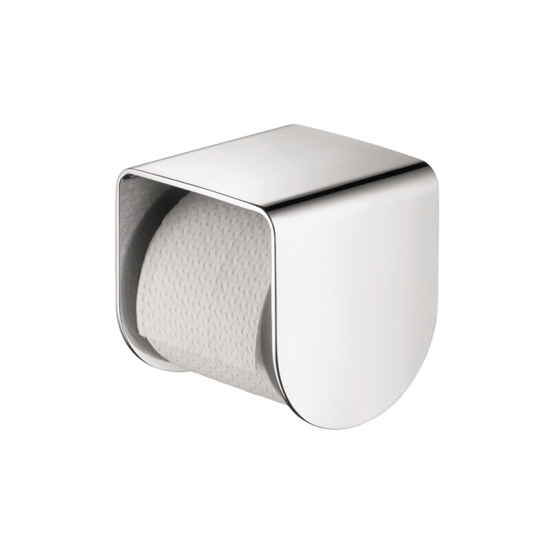 Hansgrohe 42436000 Axor Urquiola Toilet Paper Roll Holder, 5-3/8 in H, Solid Brass, Chrome Plated