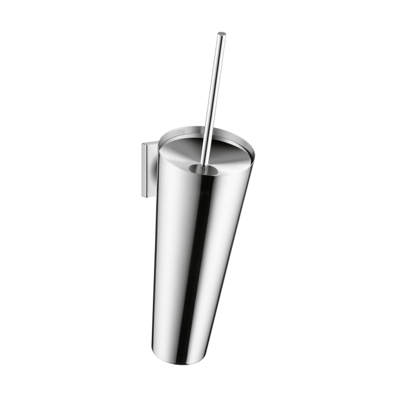 Hansgrohe 42735000 Axor Starck Organic Toilet Brush With Holder, Metal, Chrome Plated